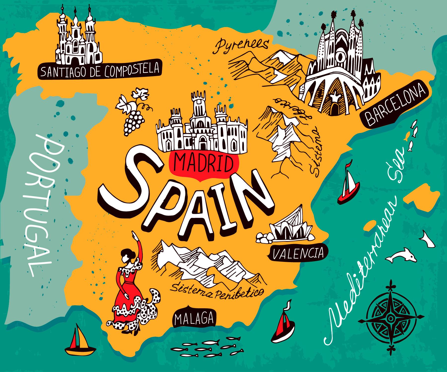 Картинки по запросу іспанія карта